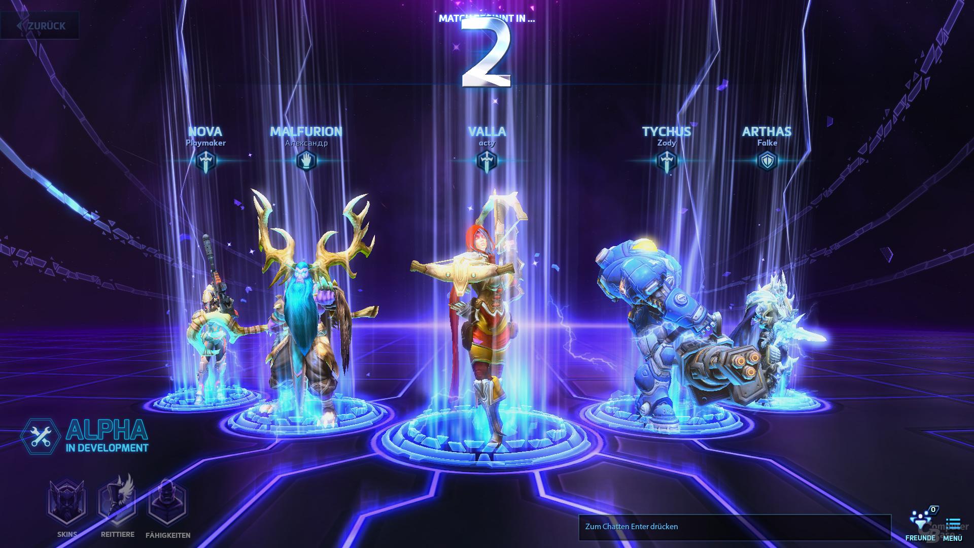 Heroes of the Storm – Spielsuche