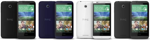 HTC Desire 510 in Schwarz, Blau, Weiß und Grau