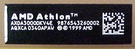 Athlon Barcode
