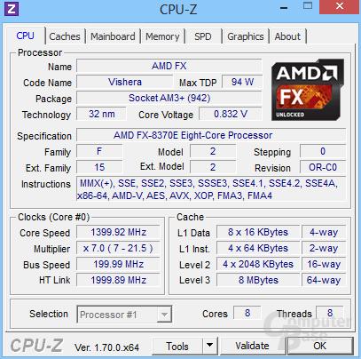 AMD FX-8370E im Leerlauf