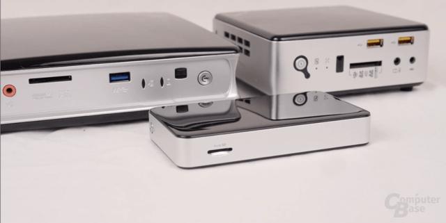 Die Zbox Pico ist deutlich kleiner als die Zbox nano (hinten rechts)