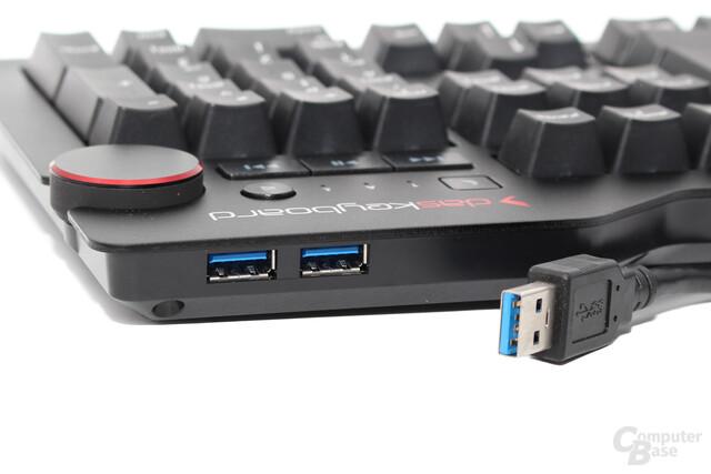 USB-3.0-Hub an der Rückseite