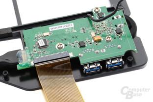 Zusatztasten und Hub auf separaten PCB mit Nuvoton-Controller