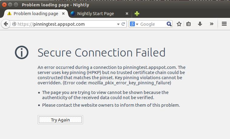 Firefox 32 Pinning