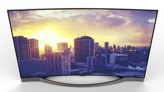 Medion Life X18028: Gebogener Fernseher mit 55 Zoll und UHD für 1.500 Euro