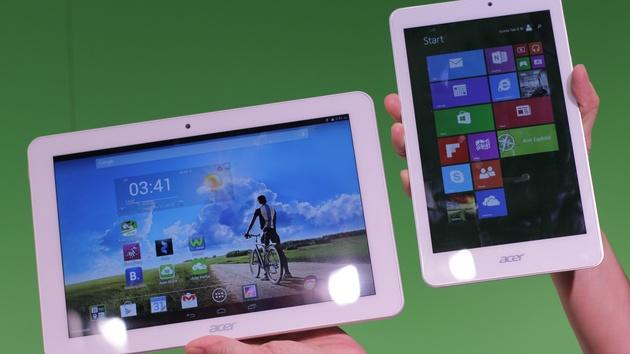 IFA 2014: Acer-Tablets mit Android und Windows von 8 bis 11,6 Zoll