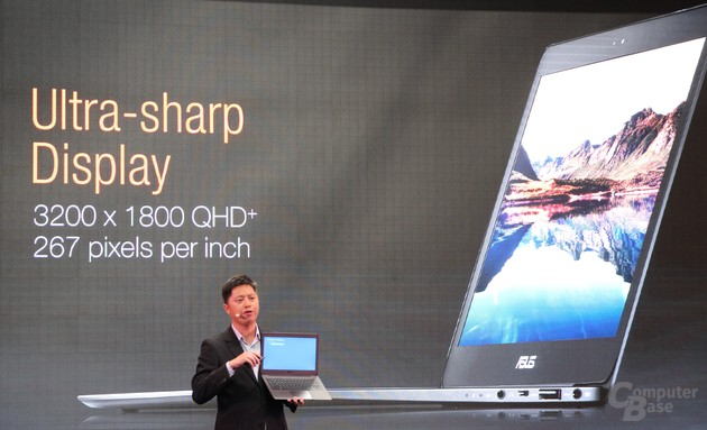 Asus Zenbook UX305 mit 3.200 x 1800 Pixeln