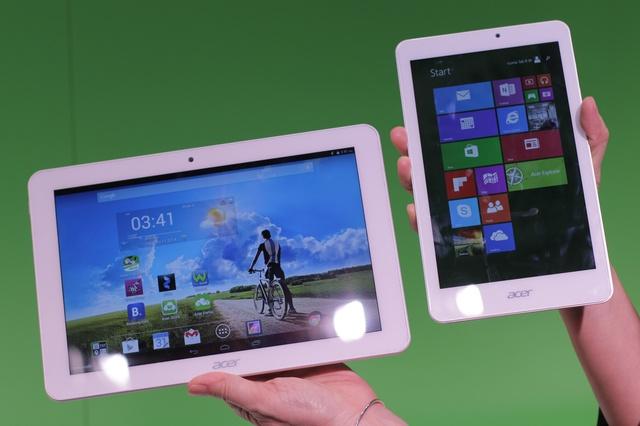 Iconia Tab 8 W mit Windows und Tab 10 mit Android