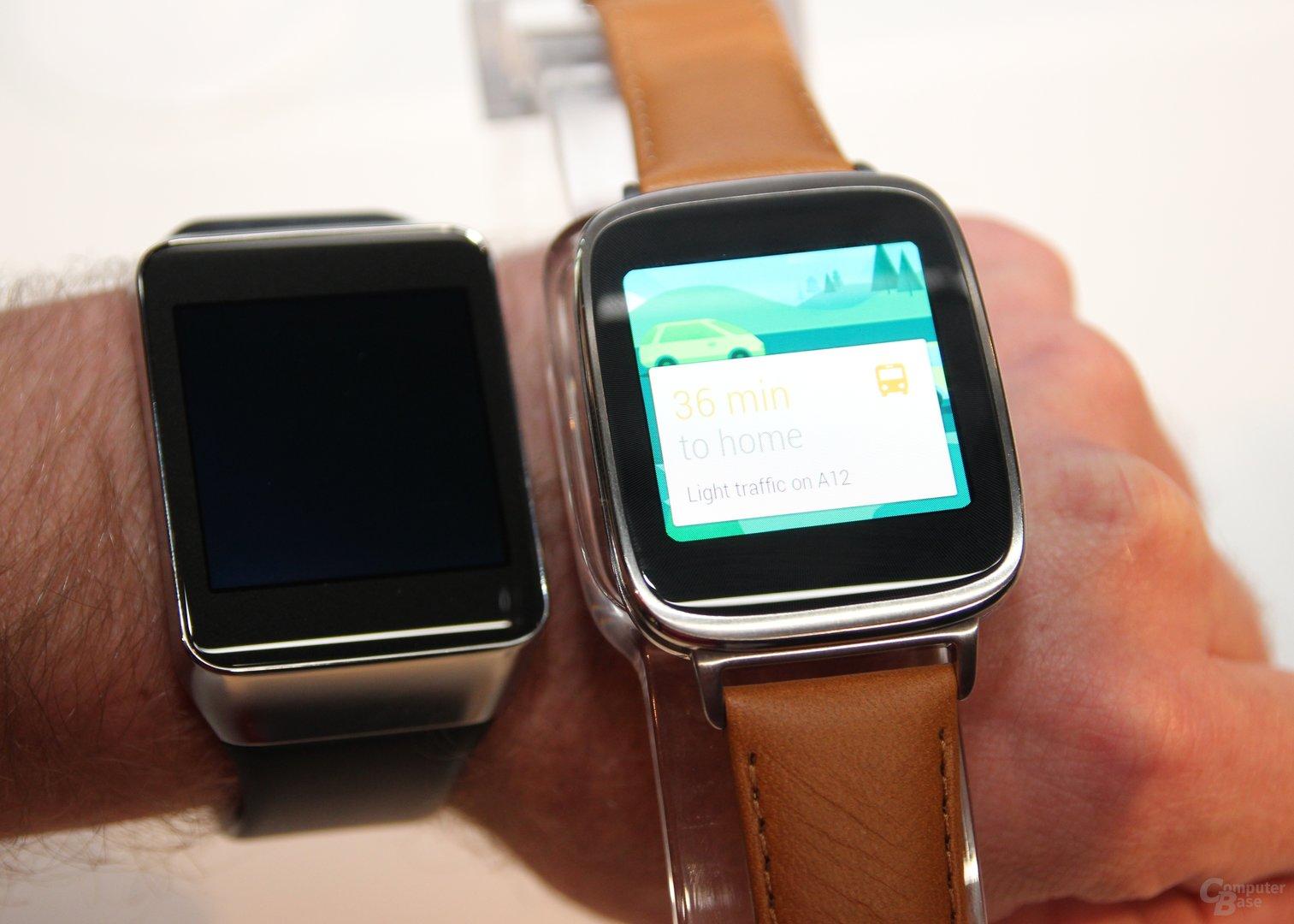 Asus ZenWatch im Vergleich zur Samsung Gear Live