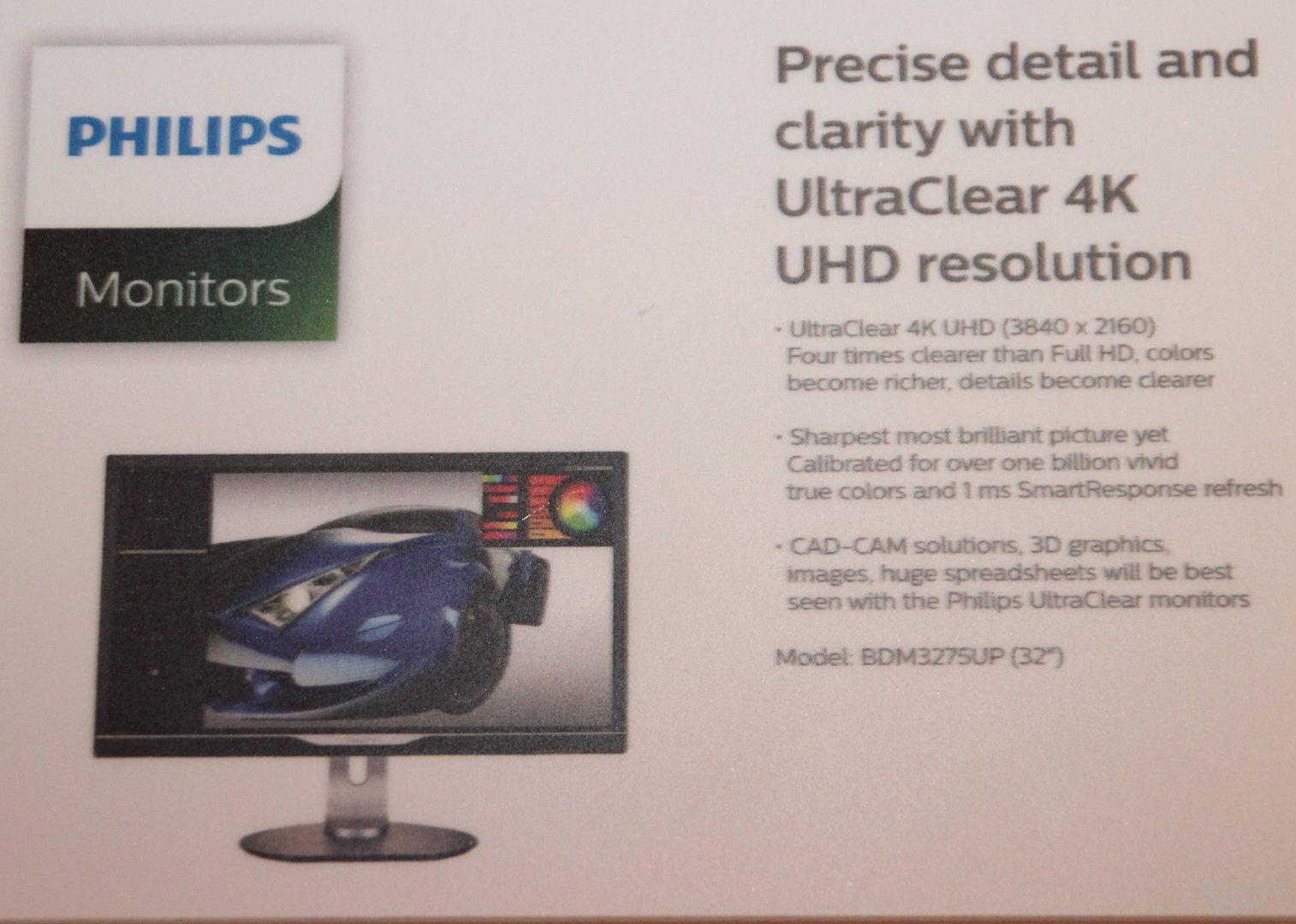 Philips BDM3275UP mit 3.840 x 2.160 auf 32 Zoll