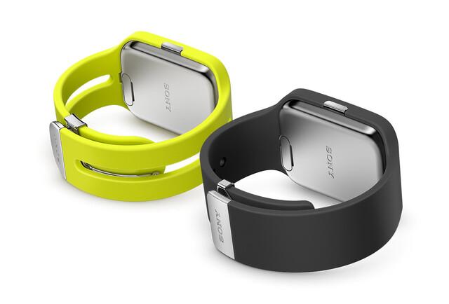 Die Sony SmartWatch 3 in Schwarz und Gelb