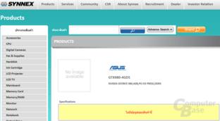 Asus GTX 980 mit 4 GB gelistet