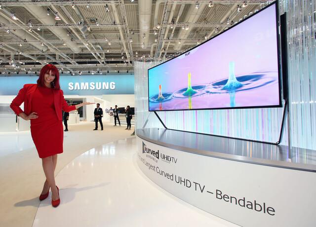 Samsung Bendable UHD-TV mit 105 Zoll
