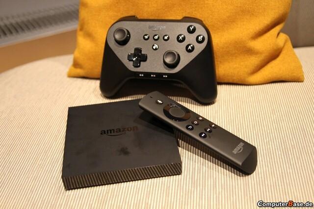 Amazon Fire TV mit optionalem Controller und Fernbedienung