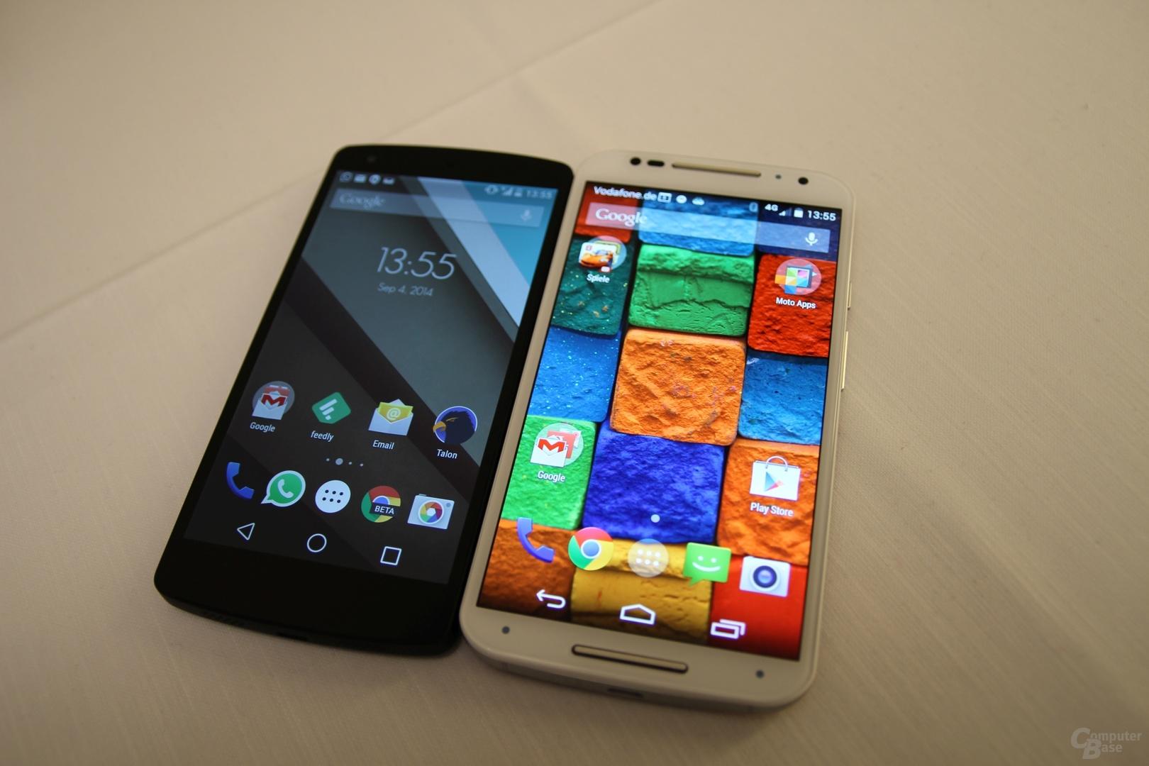 Nexus 5 und Moto X (2014)