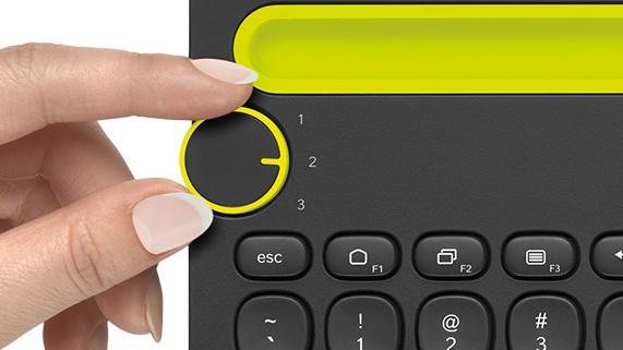 Logitech K480: Universal-Tastatur für Tablet und Smartphone
