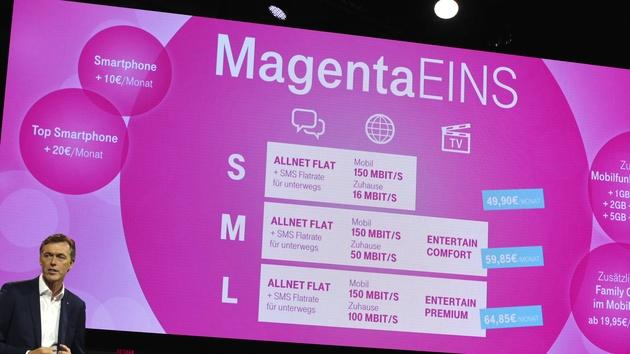 Magenta Eins: Telekom-Tarife vereinen Mobilfunk, Festnetz und IPTV