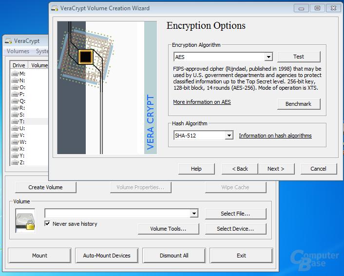 VeraCrypt creating an encrypted volume