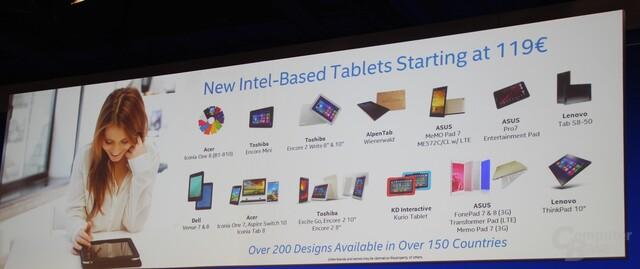 Tablet-Auswahl auf Intel-Basis