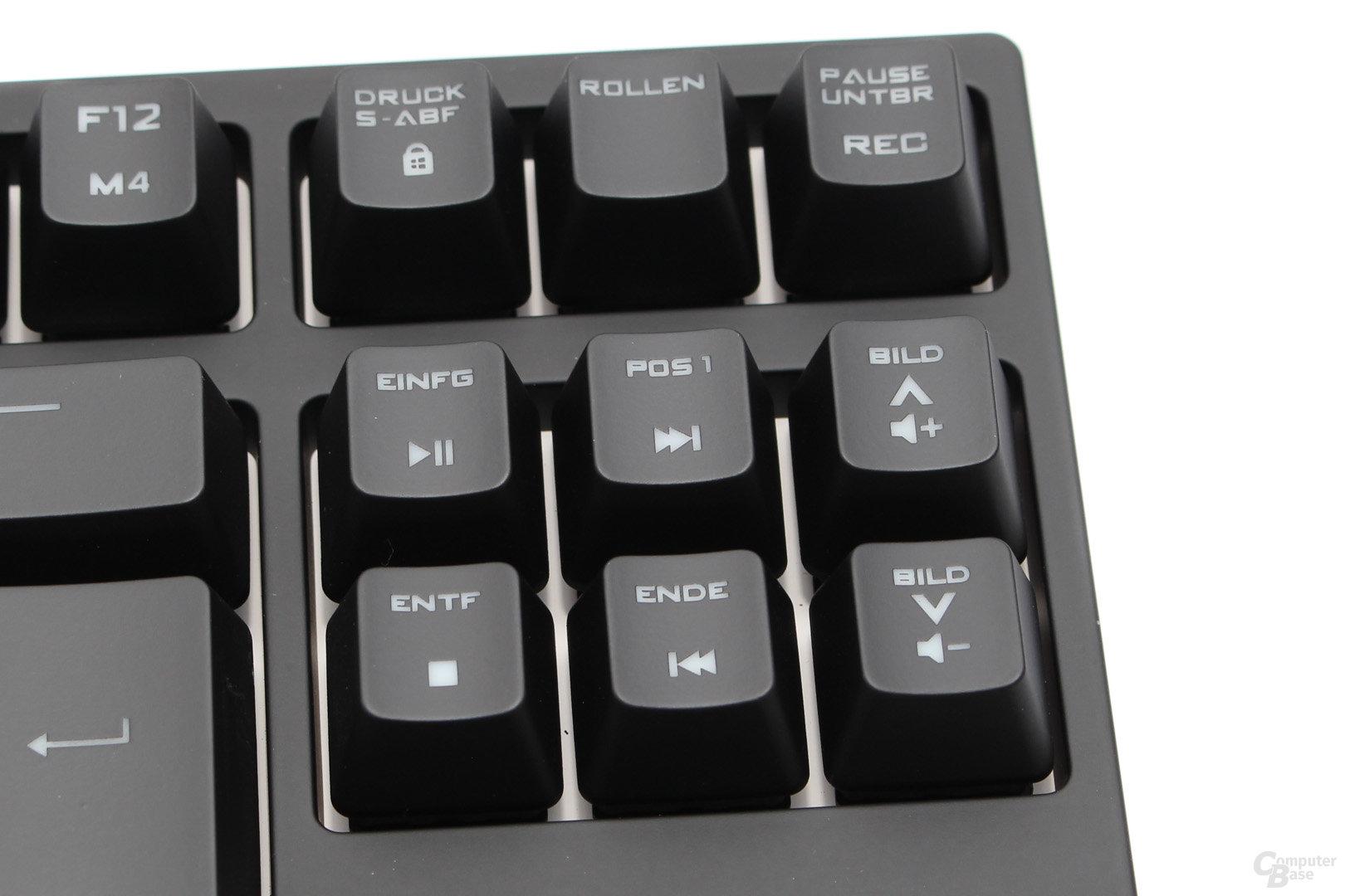 Medien-Shortcuts, Lautstärke-Steuerung und Gaming-Modus