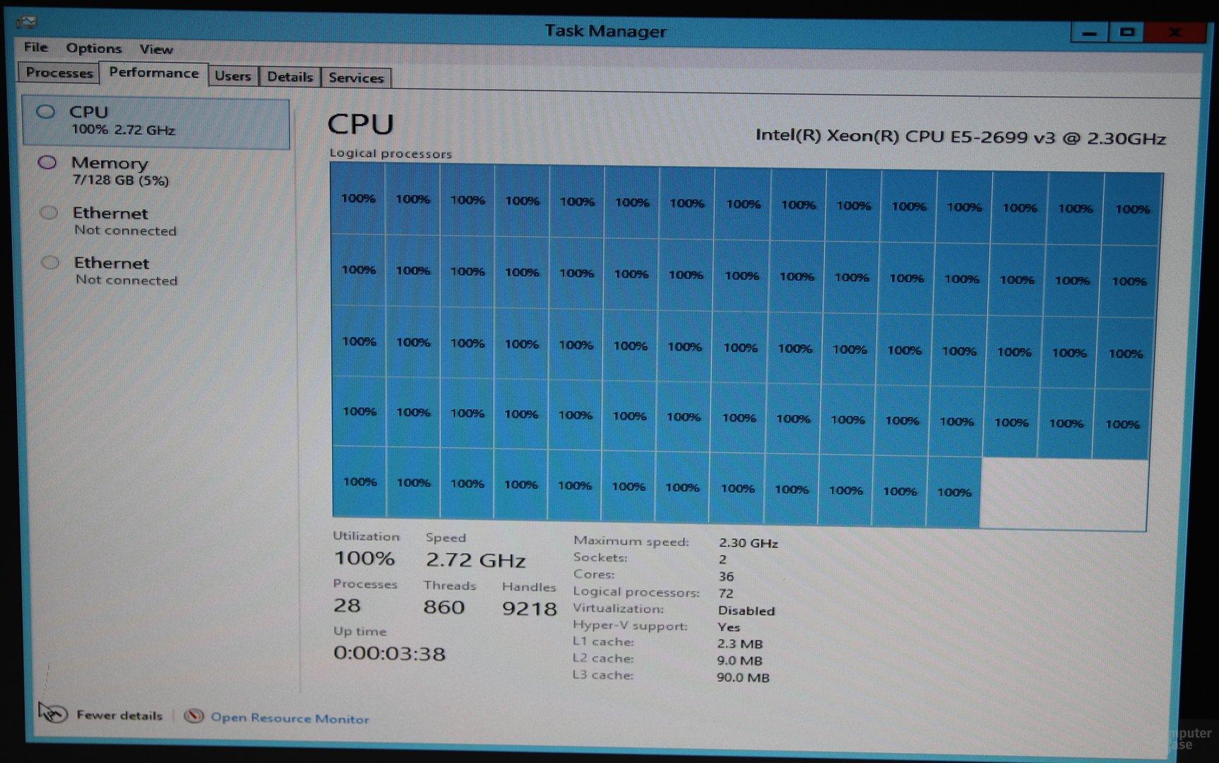 "Intels 18-Kern-Prozessor ""Haswell-EP"" im Dual-Sockel-System"