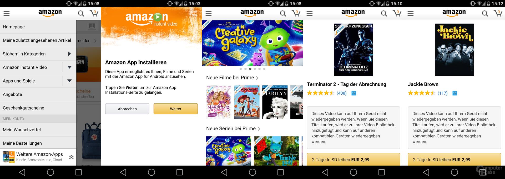 Amazon Instant Video für Android freigegeben