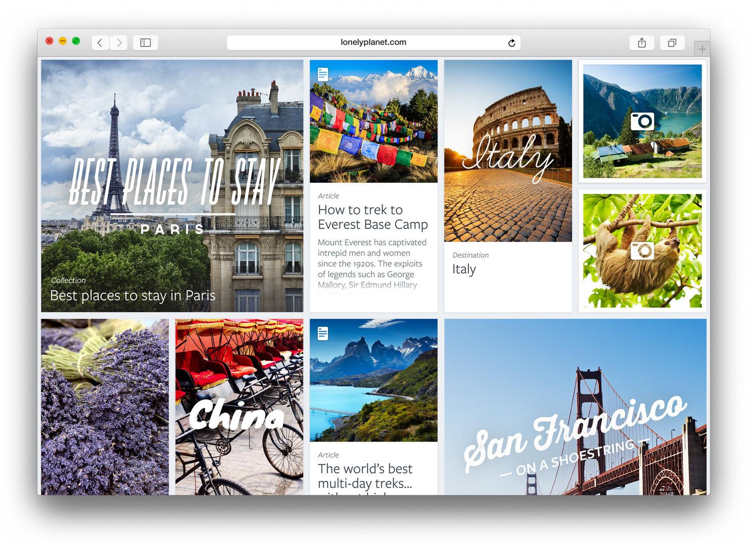 Safari in OS X 10.10