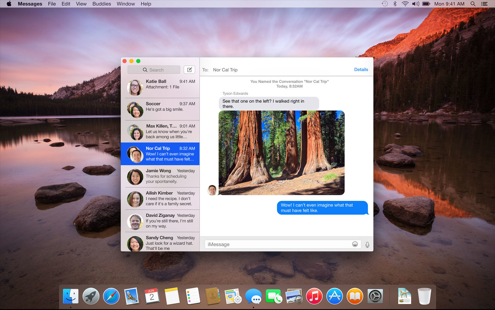 Messages in OS X 10.10