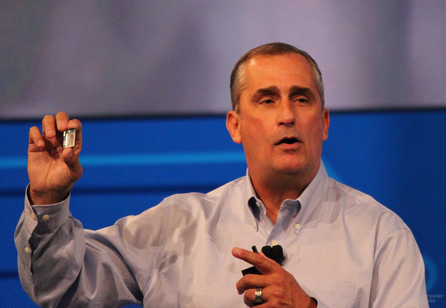 Intel-CEO Brian Krzanich mit Edison
