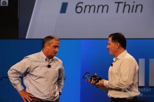 Intel- und Dell-CEO auf der Bühne