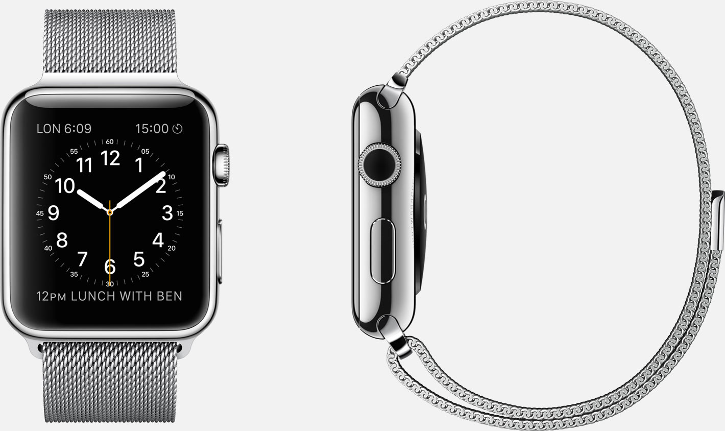 Apple Watch – 316L Edelstahl – Milanaise-Armband Edelstahl – Magnetverschluss