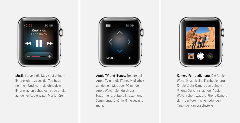 Musik / Apple TV und iTunes / Kamera Fernbedienung