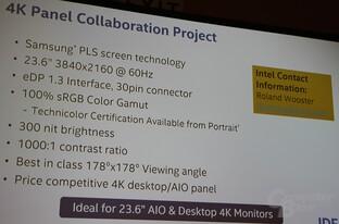 Intel mit Samsung für günstiges 4K-Panel