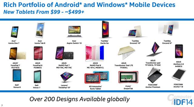 Intel-Tablets von 99 bis 499 US-Dollar