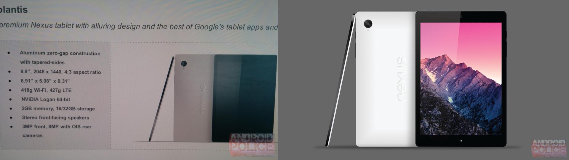 Nexus 9 / Volantis von HTC (Bild: AndroidPolice)