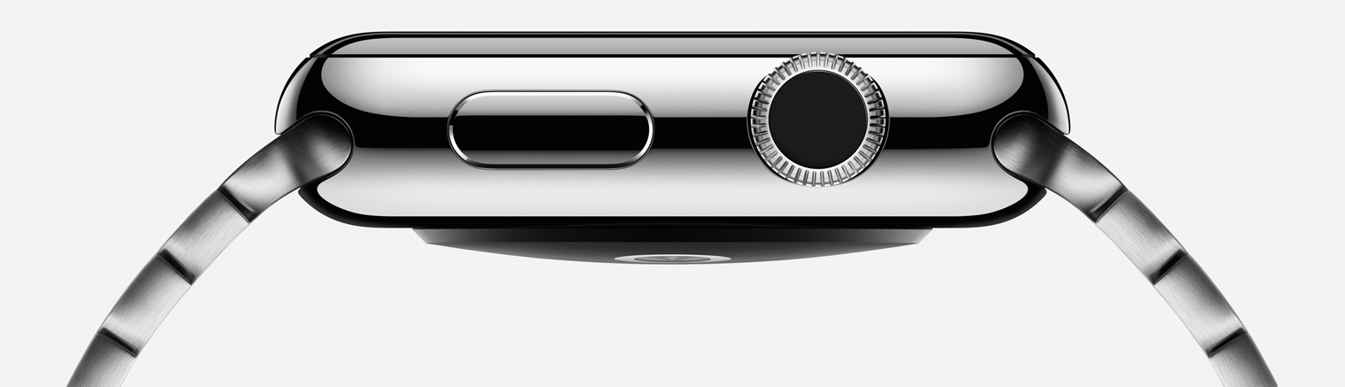 Apple Watch mit digitaler Krone in der Seitenansicht