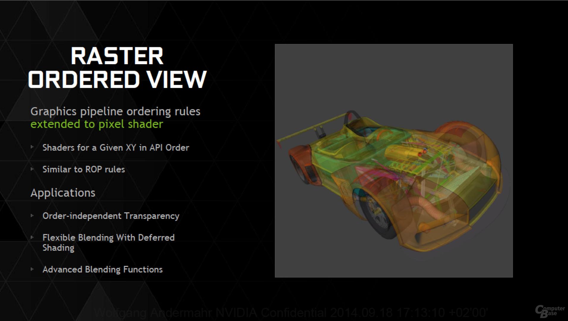 GM204 unterstützt Raster Ordered View aus DirectX 11.3 / 12