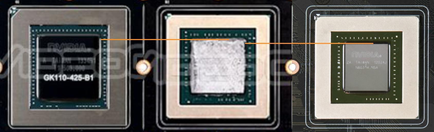 v.l.n.r.: GK110, GM204, GK104