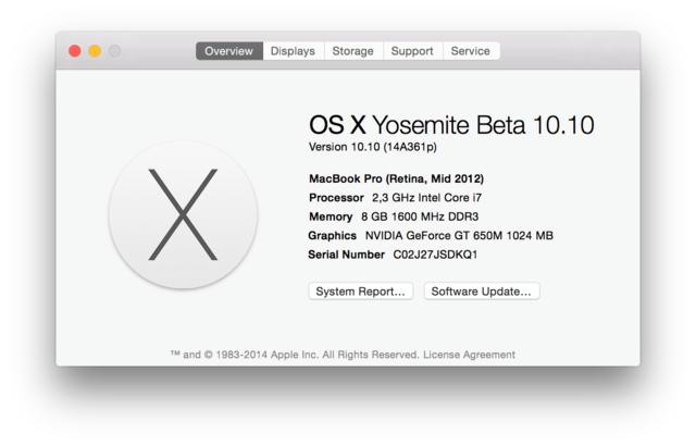 OS X 10.10 Yosemite Beta 3
