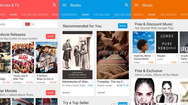 Material Design: Google materialisiert den Play Store