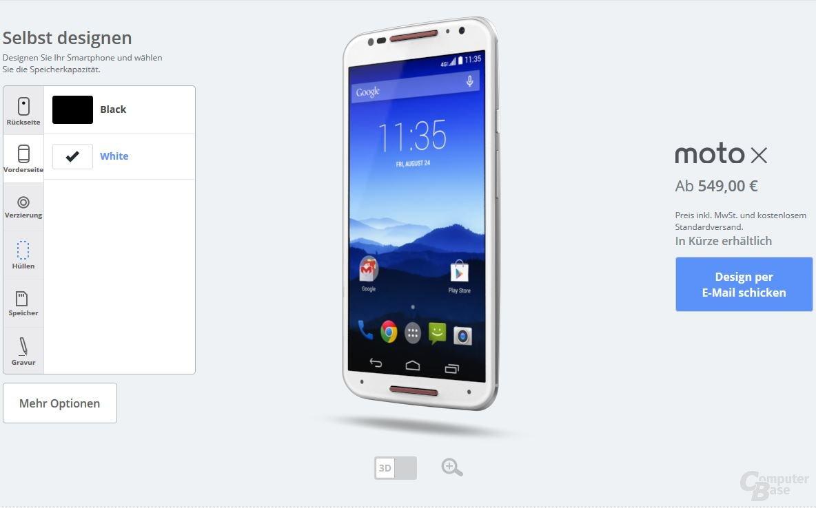 Motorola Moto X – Vorderseite
