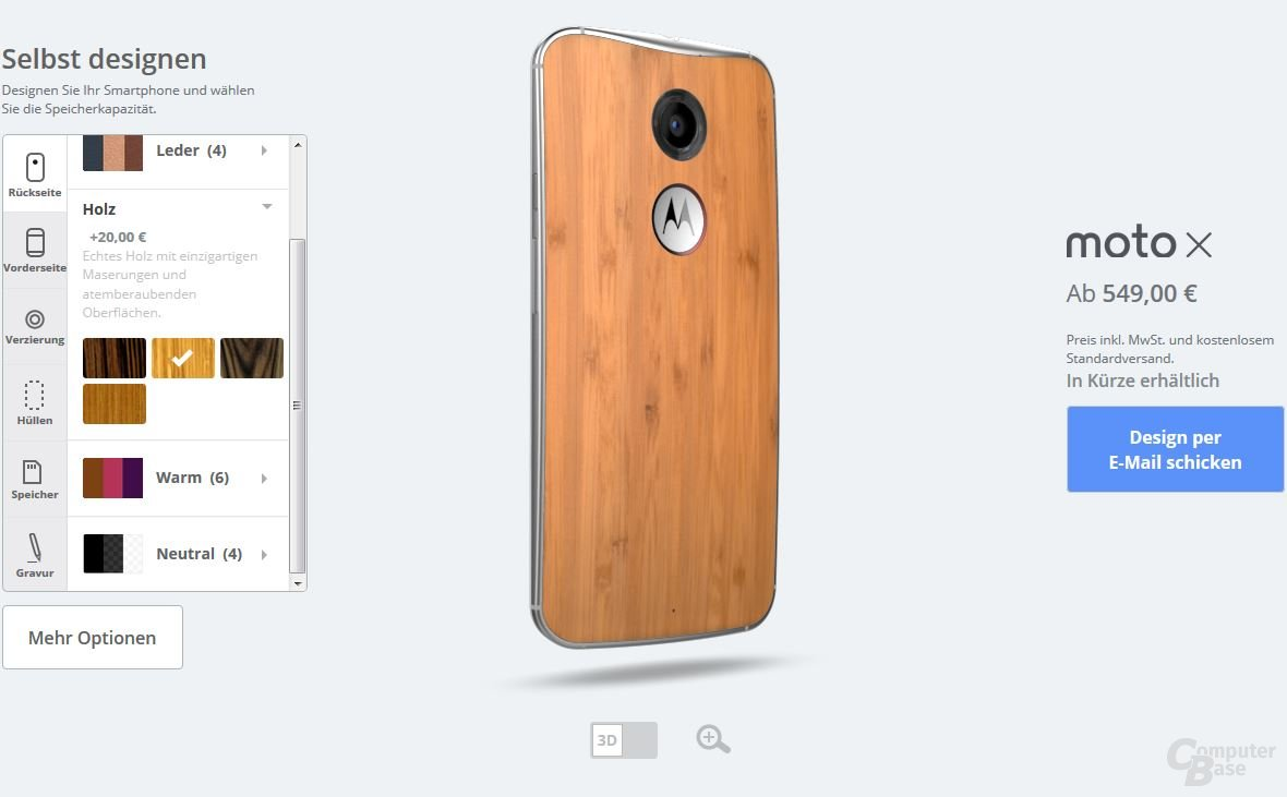 Motorola Moto X – Rückseiten