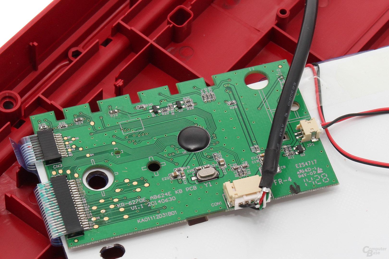Controller-Platine mit Stromversorgung für die LEDs