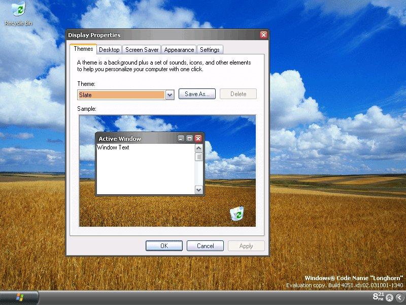 Windows Longhorn Desktop