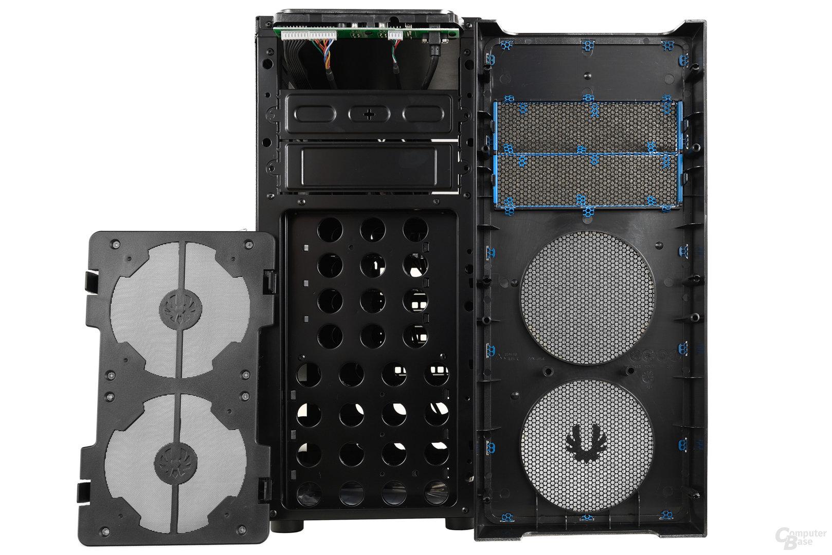 BitFenix Neos - Frontstaubfilter demontiert