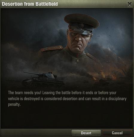 Warnmeldung für Deserteure