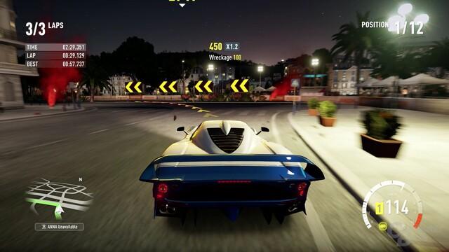 Nachtfahrt durch Nizza