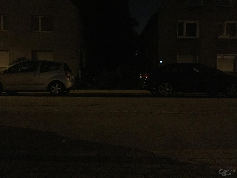 Apple iPhone 6 im Test - Kamera bei Nacht ohne Blitz