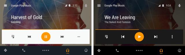 App-Ansicht bei Tag und Nacht