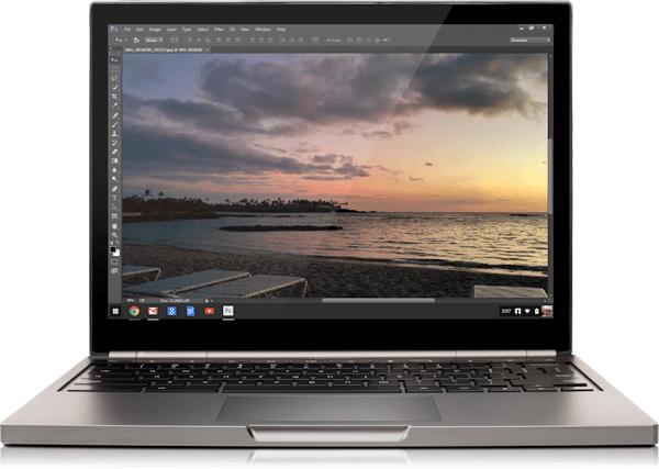 Photoshop auf einem Chromebook